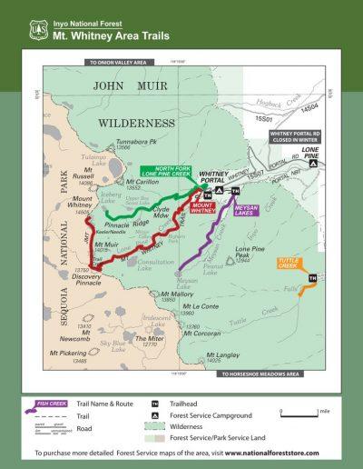 Mt Whitney Area